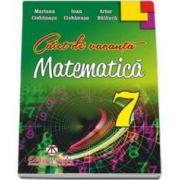 Matematica - caiet de vacanta pentru clasa a 7-a (Artur Balauca)