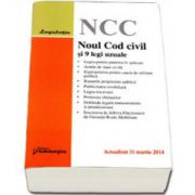 Noul Cod civil si 9 legi uzuale . Actualizat 31 martie 2014