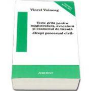 Viorel Voineag, Teste grila pentru magistratura, avocatura si examenul de licenta. Drept procesual civil. Actualizat aprilie 2014