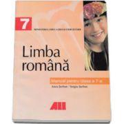 Limba romana. Manual pentru clasa a VII-a (Anca Serban si Sergiu Serban)