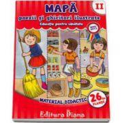 Mapa poezii si ghicitori ilustrate volumul II - Educatie pentru sanatate (Material Didactic 26 de planse)