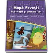 Gainusa cea motata, Povestea ursului cafeniu, Turtita. Mapa povesti ilustratii si Puzzle-uri