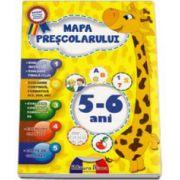 Mapa prescolarului 5-6 ani. Evaluare, exercitii grafice, carte de colorat