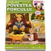 Povestea porcului. Colorez, povestesc si citesc cu ochelari 3D