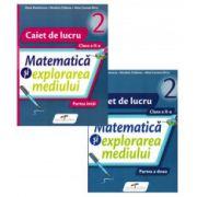 Matematica si explorarea mediului, caiet pentru clasa a II-a. Set 2 caiete - Semestrele I si II