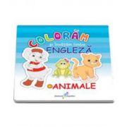 Coloram si invatam limba engleza, Volumul 1 - Animale