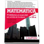 Marius Burtea - Matematica, M2. Probleme si exercitii pe unitati de invatare, pentru clasa a IX-a (Profilul, servicii, resurse, tehnic)