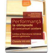 Liliana Paicu, Performanta la olimpiade si concursuri scolare. Limba si literatura romana pentru gimnaziu, clasele VII-VIII