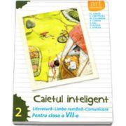 Caietul inteligent, pentru clasa a VII-a, semestrul II. Literatura. Limba romana. Comunicare