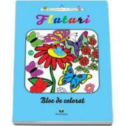 Fluturi - Bloc de colorat. Sa coloram cu Nicol