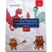 Mariana Popa, Limba franceza caiet pentru clasa a V-a L1 si L2 (2 in 1)