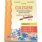 Irina Negoita, Culegere de exercitii si probleme pentru concursul Gazeta Matematica Junior 2015 volumum II, clasa a III-a, clasa a IV-a