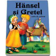 Hansel si Gretel - Carte de colorat, format 16, 5x23, 5 cm