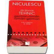 Dictionar dublu tehnic German-Roman, Roman-German. Editie necartonata
