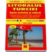 Litoralul Turciei. Harta turistica si rutiera