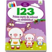 123. Prima carte de colorat cu abtibilduri - Varsta recomandata 2-5 ani
