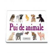 Pui de animale - Pliant cartonat cu imagini color