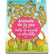 Animale de la Zoo. Carte de colorat cu activitati - Varsta recomandata 3-5 ani