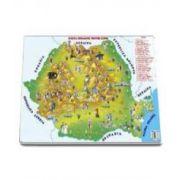 Mapa Romania - Harta Romaniei pentru copii