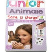 Animale. Scrie si sterge - Colectia Junior 2-5 ani