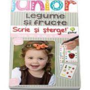 Scrie si sterge! Legume si fructe - Junior 2-5 ani