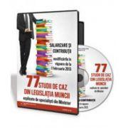 77 studii de caz din Legislatia Muncii - Format CD