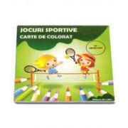 Jocuri sportive. Carte de colorat cu abtibilduri