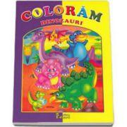 Coloram dinozauri. Carte de colorat