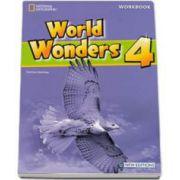 Curs de limba engleza World Wonders level 4 Workbook new editions, caietul elevului pentru clasa a VIII-a cu CD. National Geographic Learning