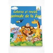 Colorez si invat - Animalele de la Zoo
