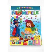 Numerele - Desenam, trasam dupa contur, coloram, scriem. Contine joc de cuburi cadou