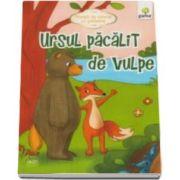 Ursul pacalit de vulpe. Povesti de colorat cu sabloane