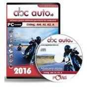 CD, Software pentru obtinerea permisului de conducere auto, ABC Auto v. 3. 0 - Categoriile AM, A1, A2, A - Actualizat 2016