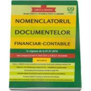 Nomenclatorul documentelor financiar-contabile, in vigoare de la 01. 01. 2016. Text comparat (O. M. F. P. 2634-2015 si O. M. E. F. 3512-2008)
