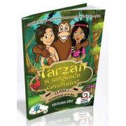 Tarzan si jungliada cuvintelor. Activitati de invatare distractiva pentru comunicare in limba romana. Carte si CD