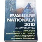 Evaluare nationala 2010 la matematica - clasa a VIII-a