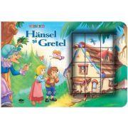 Hansel si Gretel. Cubopuzzle - Carte si 12 cuburi