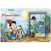Pinocchio. Cubopuzzle - Carte si 12 cuburi