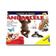 Lipesti si inveti Animalele - Cu peste 100 de fotografii inedite si curiozitati din viata animalelor (50 autocolante)