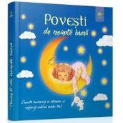 Povesti de noapte buna - Coperta lumineaza in intuneric si vecheaza somnul puiului tau!
