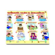 Programul zilnic al scolarului - Plansa plastifiata