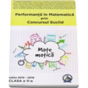 Cristina Lavinia Savu, Performanta in Matematica prin Concursul National Euclid, editia 2015-2016. Auxiliar pentru clasa a V-a