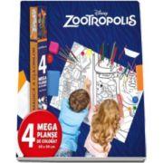 Disney, Zootropolis. Lumea magica a culorilor - 4 megaplanse de colorat