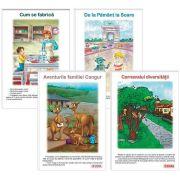 Carti uriase pentru clasa pregatitoare - Semestrul II - Set de 4 carti uriase