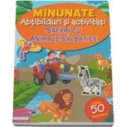 Safari cu animale salbatice - Minuntate abtibilduri si activitati