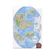 Harta fizica a lumii. Contine hartile politice ale continentelor (Conform programei scolare in vigoare)