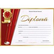 Diploma - Format A4, model imagine academica rosu