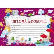 Diploma - Format A4, model imagine bobocel, trenulet