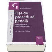 Carmen Silvia paraschiv, Fise de procedura penala pentru admiterea in magistratura si avocatura. Editia a 2-a, revizuita si adaugita