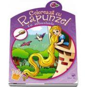 Coloreaza cu Rapunzel - Contine autocolante